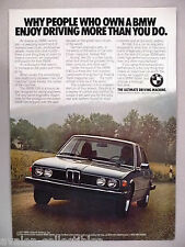 BMW 530i PRINT AD -- 1977