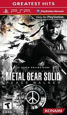 Metal Gear Solid: Peace Walker (Sony PSP, 2010) NEW