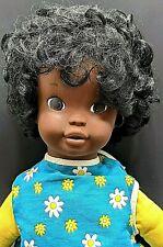 """Tamu Doll 1970 Black African American Talking Orig Clothing Clean """"SEE VIDEO"""""""""""