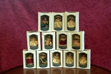 Set (12) DG Creations Porcelain Doll- Christmas Tree Ornaments