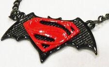 "BATMAN VS SUPERMAN Logo Metal/Enamel Pendant On 20"" Chain"