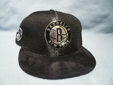 wholesale dealer fd749 ca044 Era 9fifty Brooklyn Nets on Court Collection Snapback Hat Cap NBA