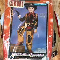 Cowboy HALLOWEEN Play Costume Dress Up Childs Size M Medium Vest Pants Bandana