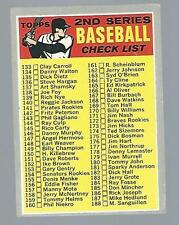 1970 TOPPS #128 2ND SERIES CHECKLIST UNMARKED FAIR CONDITION