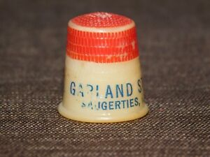 VINTAGE PLASTIC  AD THIMBLE GARLAND STEAM LAUNDRY SAUGERTIES NY