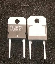 MUR3080 MOTOROLA DIODE 800V 30A lot of 12 new old stock (C11B1)