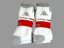 3 Pair Kappa Sports Socks Model Ulfo , White - Grey 39 - 42 New