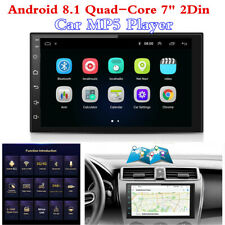 """Android 8.1 Quad-Core 7"""" 2Din GPS Navs Head Unit BT Car MP5 Player Stereo Radio"""