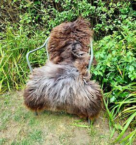 XXXL British Jacobs Brown Sheepskin Rug - 130cm by 85cm A++ (2833)