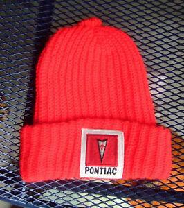 Vintage PONTIAC LOGO Ski Knit Winter Headwear Snowmobile Hat Beanie