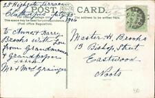 Anne & Harry Brooks, 19 Bishop St, Eastwood 1906 - Mr & Mrs Grainger QR530