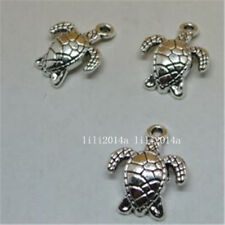 5 Tibetan Silver  Charms  turtles  Jewellery Making Crafts uk stock fast
