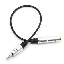 """Audio Aux 6.35mm 1/4"""" Female to 3.5mm Male Cable Stereo Headphone Plug Adapter"""
