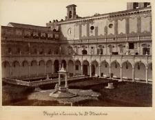 Italie, Naples, Couvent de Saint Martino Vintage Albumen Print, Italie Tirage