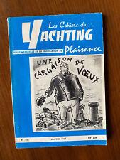 Cahiers du Yachting Janvier 1963 N°134 - Salon nautique & plan 590 Lanaverre