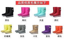 Womens Fashion Winter Snow Warm thick Warm waterproof Fur Lined Ankle Boots