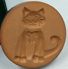 """Rycraft Cat Cookie Stamp Stoneware Detailed Carving With Recipes 2"""""""
