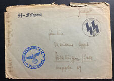1942 Germany Buchenwald Concentration Camp Commandant Cover Waffen SS Feldpost