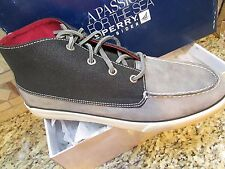 NEW SPERRY TOP-SIDER BAHAMA LUG CHUKKA SHOES BOOTS SHOE BOOTS MENS 11.5 GRAY
