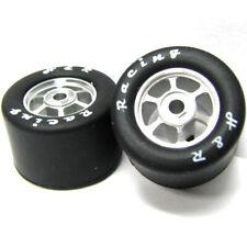 H&R Racing HR1354 6 Spoke 18mm Chrome Wheel w/ Silicone Tire (2) 1:24 Slot Car
