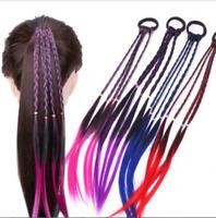 Girl Braid Wig Elastic Hair Band Rope Scrunchie Ponytail Holder Hair Accessories