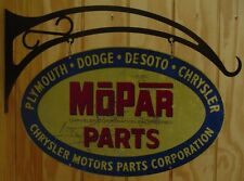 NEW Mopar Parts Oval Double Sided Distressed tin metal sign