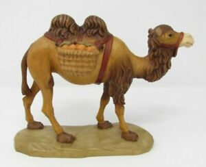 """Camel Nativity Woodcarving with Luggage Fruit - Beautifully Painted - 6.5"""" Tall"""