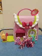 My Little Pony Ponyville Fancy Fashions Purse Playset with 5 Mini Ponies  EUC