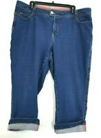 Coldwater Creek Women's W18 High-rise Capri Cropped Stretch Denim Jeans Blue