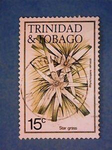 Trinidad & Tobago. QE2 1983 15c Flowers. SG638A. Wmk Ww14 sideways. P14. Used.