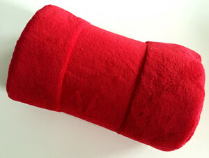 95*145cm Coral Fleece Red Throw Faux Fur Blanket Throws Sofa Bed Christmas Skirt