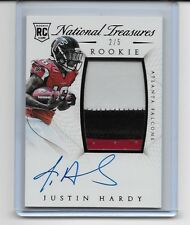 2015 NATIONAL TREASURES JUSTIN HARDY RPA ROOKIE AUTO PATCH LOGO 3 COLORS 2/5