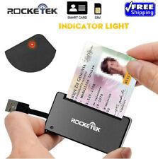 Rocketek lector de tarjetas inteligentes USB 2.0 Dod militar CAC acceso común-tarjeta bancaria-ID