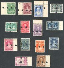 ESPAÑA 1926 - EDIFIL 325/338MT - SERIE COMPLETA - CRUZ ROJA ESPAÑOLA - MUESTRAS