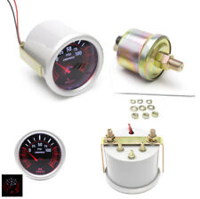 "1PCS 12V Car 2""/52mm LED Bar Gray Oil Pressure Gauge Universal Metal & Plastic"