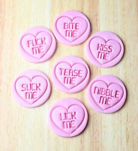 Love Hearts Cookie Stamps, Valentine's Mature content cookies, Fondant Embosser