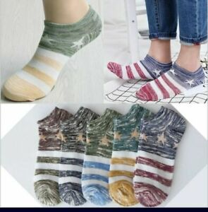 WOMENS  Trainer Liner Ankle Socks Invisible Cotton Low Cut Sports GYM RUNNING