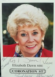 Photo from Coronation Street signed by Liz Dawn