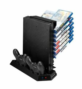 Game Storage and Cooling Fan / Dual Controller Charger PS4 Pro Playstation 4 Pro
