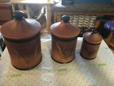 New listing lefton 3 piece canister set