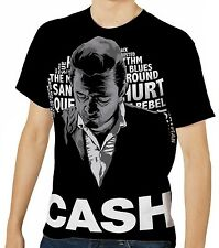Johnny Cash Herren Kurzarm T-Shirt Tee wa1 aao20162