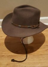 Mens' Outback Trading Western Hat Wide Open Spaces 1336 Wool - Chin Strap Sz L