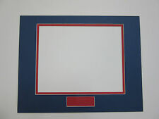 Picture Frame Double Mats Set of 26 mats Custom Order blue with red