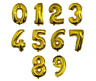 """16/40"""" LIGHT ROSE GOLD Giant Foil Number Balloons Party Decorations Birthday Age"""