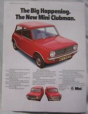 1969 Austin Morris Mini Clubman Original advert No.1
