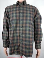 ORVIS Signature Collection Plaid Shirt Men's M Green Long Sleeve Button Down