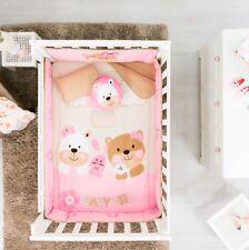 LIMITED EDITION BEAR BABY GIRLS NURSERY CRIB BEDDING SET 6 PCS