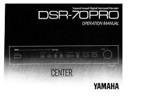 Yamaha DSR-70PRO Decoder Owners Manual