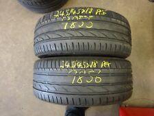 2 X BRIDGESTONE TURANZA ER300 RUNFLAT 245/45X18 PARTWORN TYRES (REF 9855/9856)