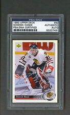 Dominik Hasek signed Chicago Blackhawks 1992 Upper Deck Card Psa